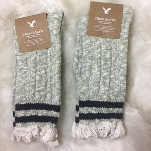 American Eagle Outfitters crew socks New OS 2 pcs